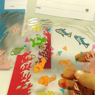 ★透明な海の葉書を作ろう~東成~涼しげな暑中見舞い