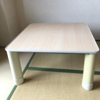 2000円 コタツテーブル(リバーシブル)コタツコード延長足付き、