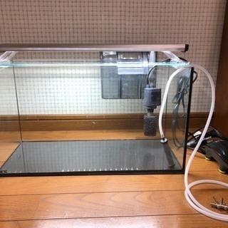 GEX 45cmガラス水槽、3色LEDセット【近くまで来られる方限定】