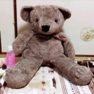 【クリーニング済み】明日まで!!テディーベア☆大きなくまのぬいぐるみ
