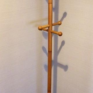 【高さ164センチ】 木製ポールハンガー 【中古良品】