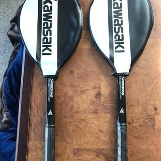 【新品未使用品】KAWASAKI 軟式テニスラケット2本