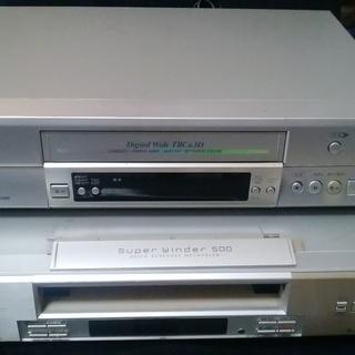 【取引終了】《差し上げます!》SVHSビデオレコーダー 2台 +...