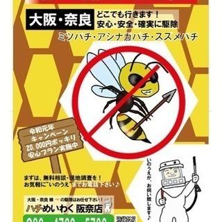 ハチ駆除行います