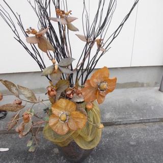 ☆地元のみ☆大きい花瓶 ドライフラワー付き☆