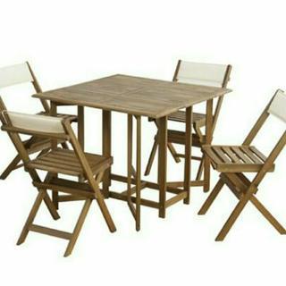 値下げしました❗折り畳み テーブル&チェア 新品