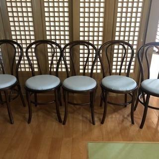 ダイニングテーブル用イス/5脚セット/お盆休み中のみ
