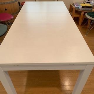 美品  ホワイトダイニングテーブル