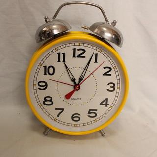 目覚まし時計 黄色 難あり