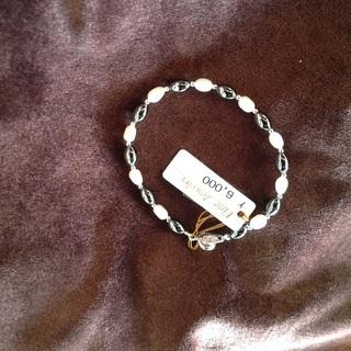 ヘマタイト 加工真珠 ブレスレット