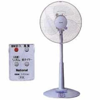 ナショナル 扇風機 FC314V リモコン付