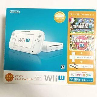 任天堂 Wii U すぐに遊べるファミリープレミアムセット 白 ...