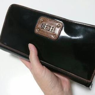 DIESEL エナメル長財布