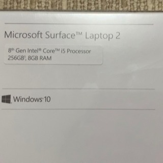 【新品未使用】surface laptop2  - パソコン