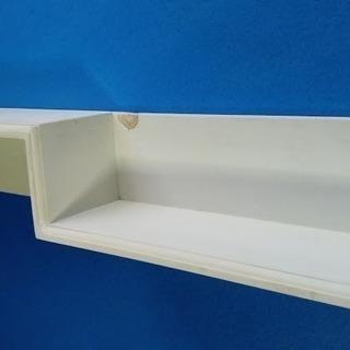 ハンドメイド 壁掛け違い棚シェルフホワイト