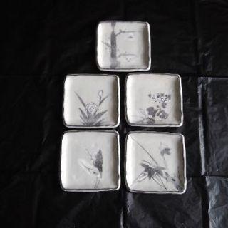 志野焼 銘々皿 5客