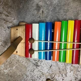 * 木琴 *河合楽器 シロホン スワン 木のおもちゃ 音楽