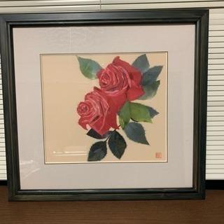 [無料]ちぎり絵の薔薇の花の絵