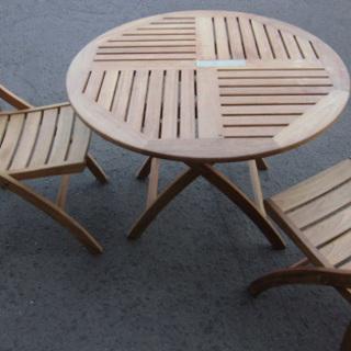 南12条店 ガーデンテーブル&イス×2 屋外用テーブル 庭