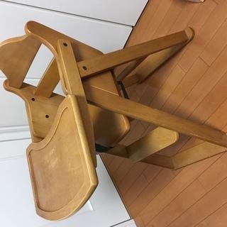 ベビー用木製ハイチェア、折り畳み式