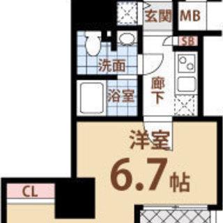 西長堀駅 歩5分  家賃35800円 共益費5000円  25.68㎡