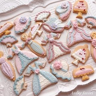 母の日のプレゼントにも★マリーアントワネットアイシングクッキーレッスン