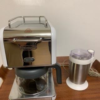 デロンギ コーヒーメーカーとVitantonioコーヒーミル