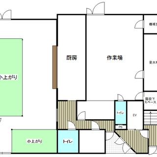 貸店舗 面積とても広いです! 改装費100万円プレゼント! 元レ...