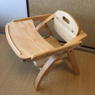 美品☆大和屋アーチ木製ローチェア-N子供用椅子イス
