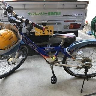 男児子供用自転車 小3〜6年くらい ブリジストン自転車 ヘルメット付き