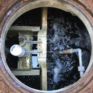 浄化槽に亀裂... ヒビ割れ... 漏水...