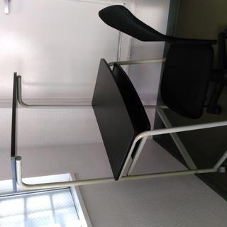 パソコンデスク用椅子のみ 布張り(メッシュ張仕様)