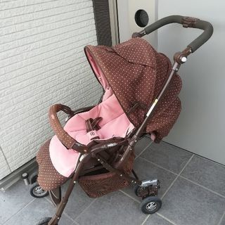 【最終値下げ】【中古】アップリカ  ベビーカー  ピンク