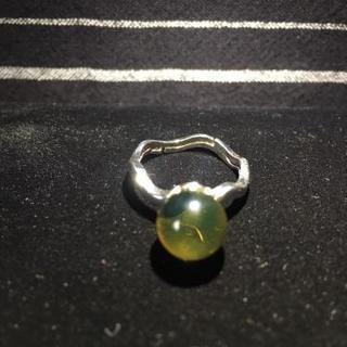 【新品】天然蜜蝋琥珀(メキシコブルーアンバー)  指輪
