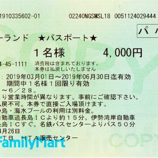 長島スパーランド入場券★パスポート★