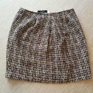 クードシャンス ツイード台形スカート