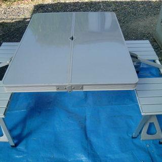 アルミ製携帯ピクニックテーブルセット
