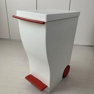 kcud クード ペダル式 ゴミ箱 20リットル  赤