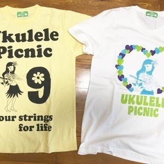 新品!レディースTシャツ ★ ウクレレ ピクニック 二枚セットで