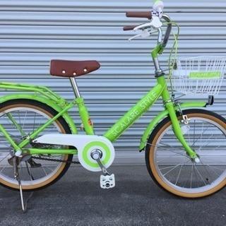【値下げしました】18インチ 子供用自転車 グリーン