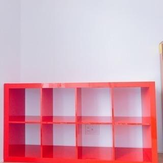 【お譲りします】IKEA 棚 赤 (カラックス シェルフユニット)
