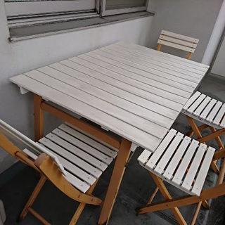 ガーデンテーブルセット(テーブル&チェア4脚)
