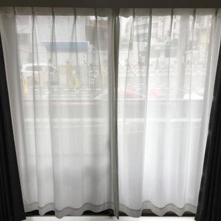 カーテン(レースカーテンと遮光カーテ2枚セット)