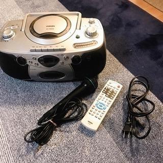 CD ラジオ カセット ラジカセ