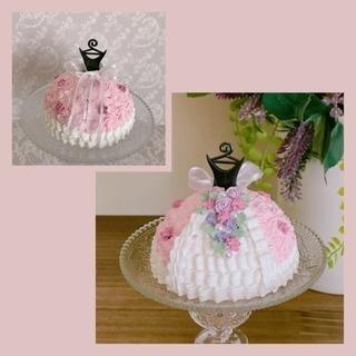飾る プリンセスケーキ
