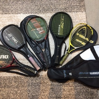 テニスラケット:ラケット5本+7ケース一式