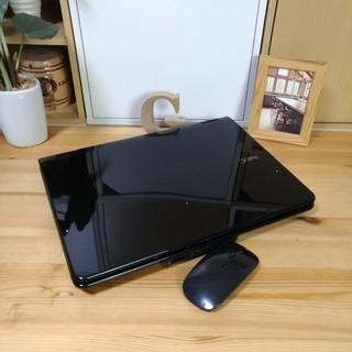 ブルーレイ対応☆ 綺麗で可愛い光沢クリスタルブラック♪ 高性能core2 メモリ4G NEC Lavie 大画面 最新Windows10 64Bit 大容量160G 黒 高級感 15.4インチ マウス付き  ノートパソコン 無線LAN Wi-Fi対応  DVDドライブの画像