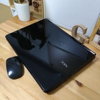 ブルーレイ対応☆ 綺麗で可愛い光沢クリスタルブラック♪ 高性能core2 メモリ4G NEC Lavie 大画面 最新Windows10 64Bit 大容量160G 黒 高級感 15.4インチ マウス付き  ノートパソコン 無線LAN Wi-Fi対応  DVDドライブ - 売ります・あげます