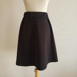 フレアスカート 黒