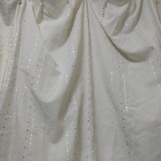 カズマ 刺繍レースカーテン 横98cm 縦108cm